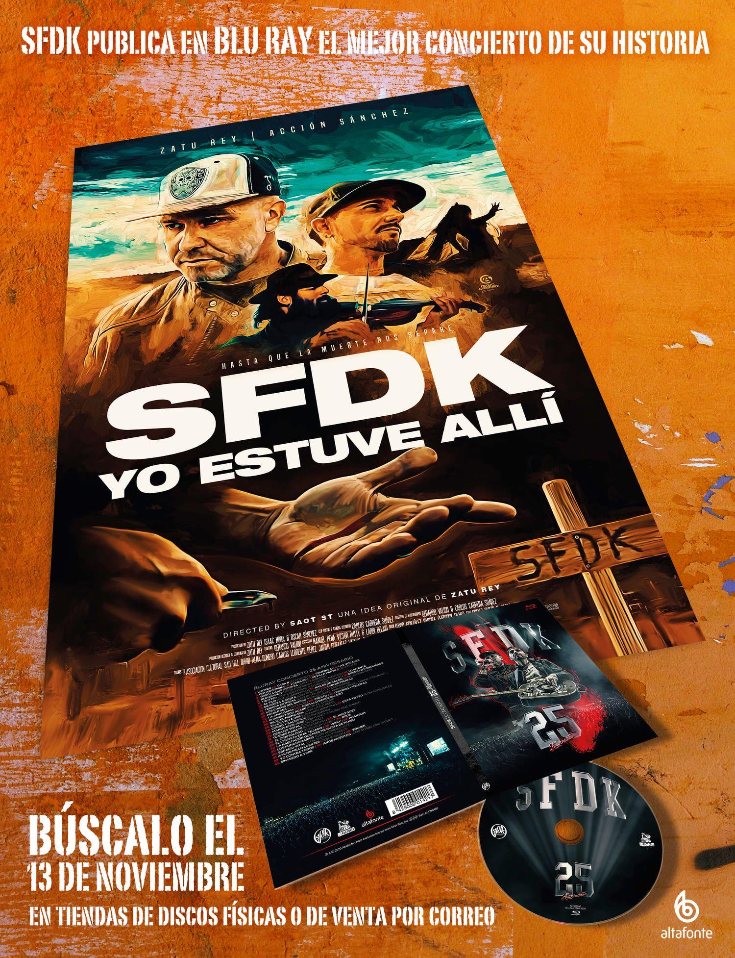 """EL BLU RAY DE SFDK """"CONCIERTO 25 ANIVERSARIO"""" YA ESTÁ DISPONIBLE EN PREVENTA."""