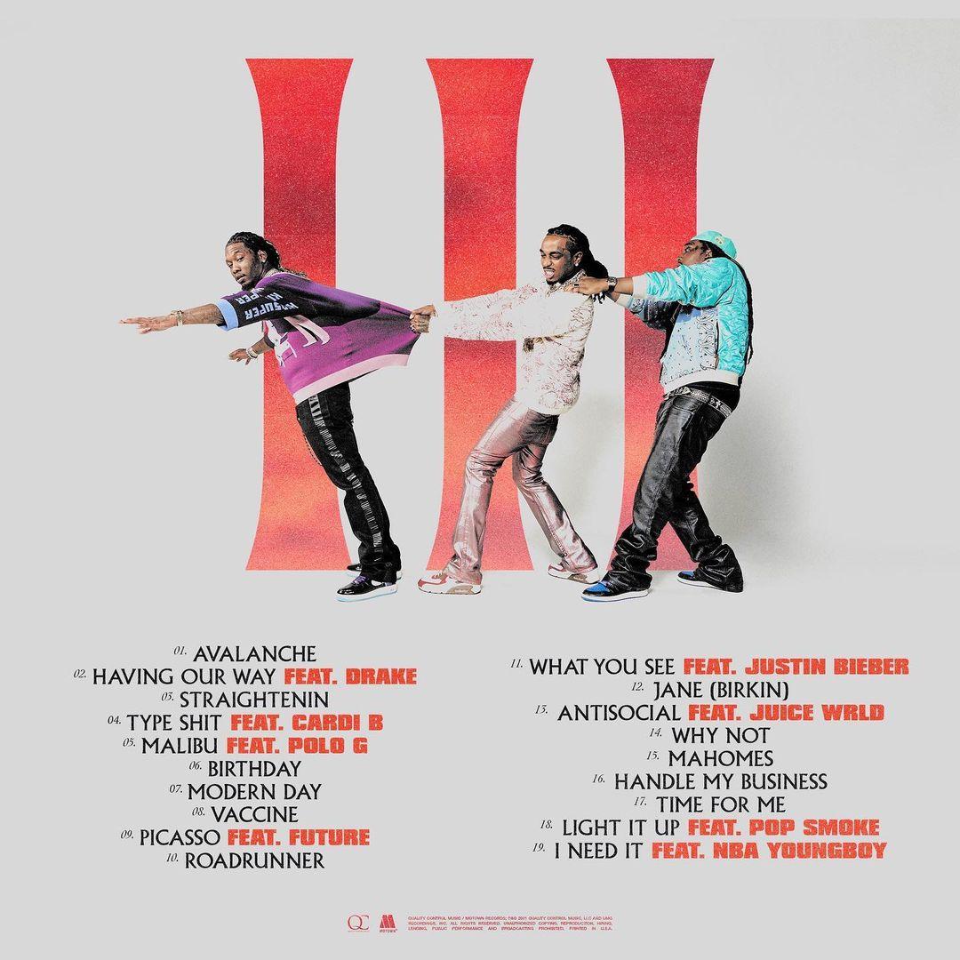"""Migos revela el tracklist de """"Culture III"""""""